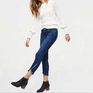 Loft Petite Modern Tulip Hem Skinny Jeans 10